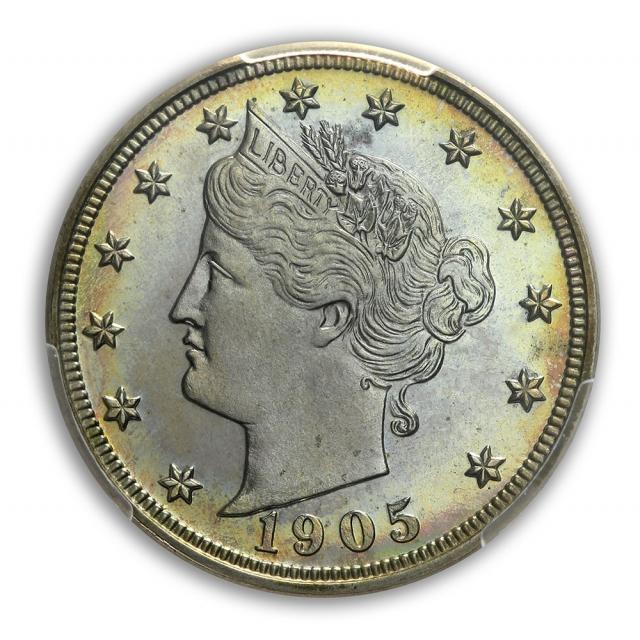 1905 5C Liberty Nickel PCGS PR67