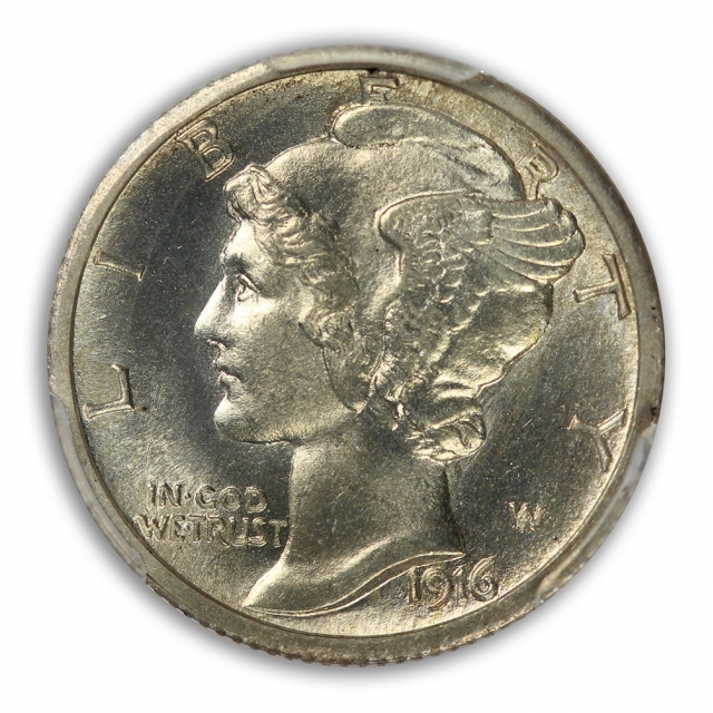 1916 10C Barber Dime PCGS MS66