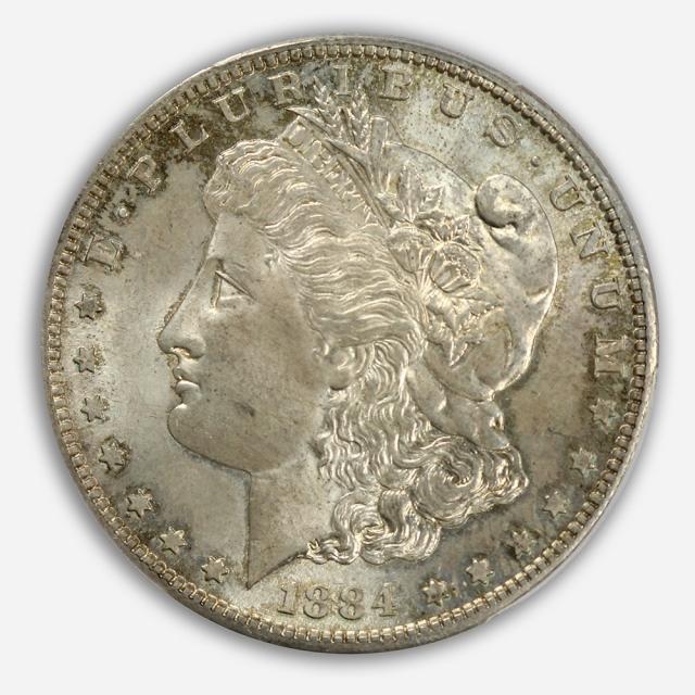 1884-S $1 Morgan Dollar PCGS MS62+ (CAC)