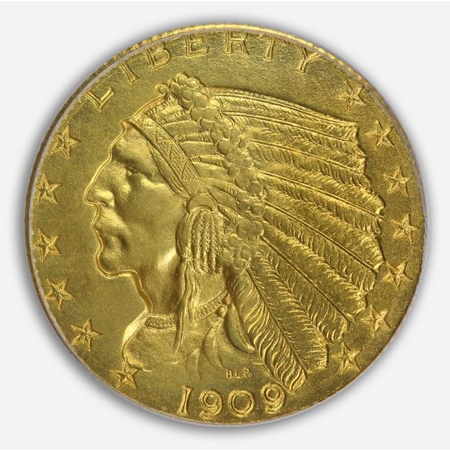1909 $2.50 Indian Head PCGS PR64