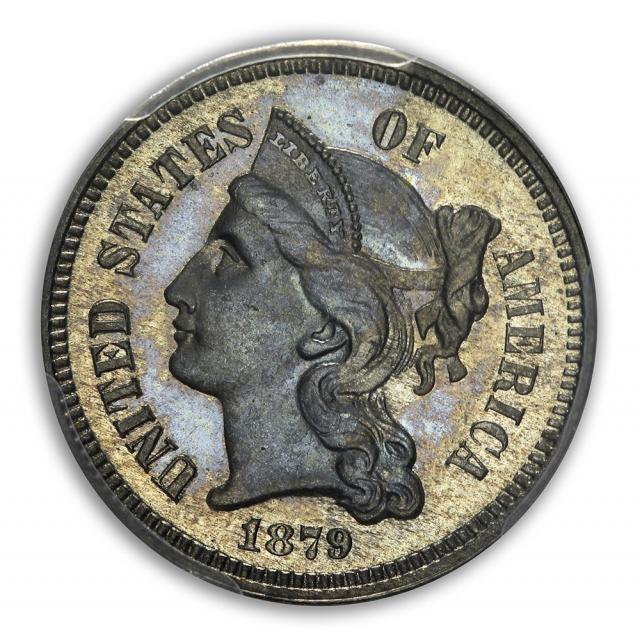 1879 3CN Three Cent Nickel PCGS PR67
