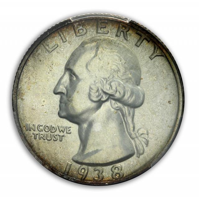 1938 25C Washington Quarter PCGS PR66 (CAC)