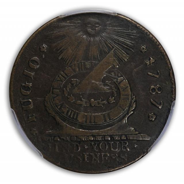 1787 Fugio STATES UNI, 4 Cinq Colonials - Fugio Cents PCGS VF30BN