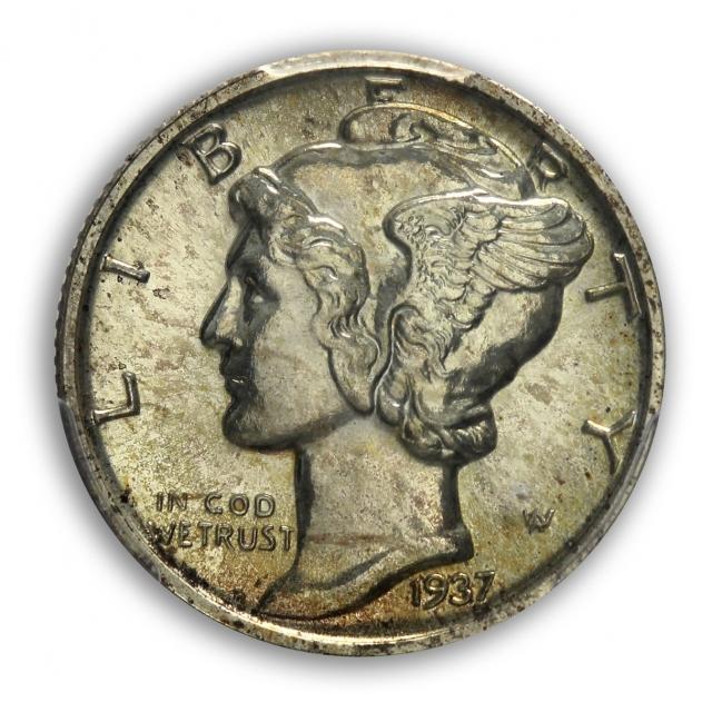 1937 10C Mercury Dime PCGS PR66 (CAC)