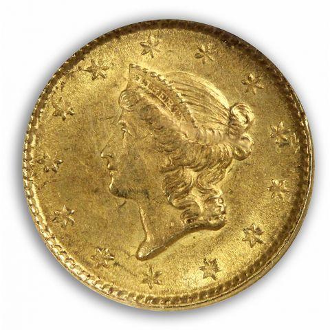 1853 Gold Dollar - Type 1 G$1 NGC MS62
