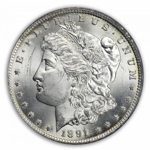 1891-CC $1 Morgan Dollar PCGS MS64