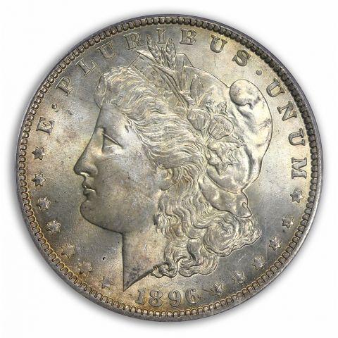 1896 $1 Morgan Dollar PCGS MS66 (CAC)
