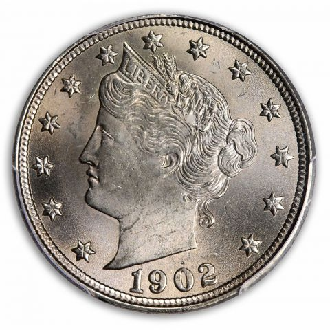 1902 5C Liberty Nickel PCGS MS65