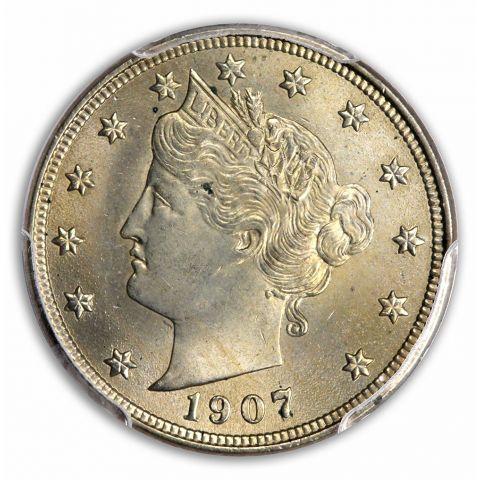 1907 5C Liberty Nickel PCGS MS63