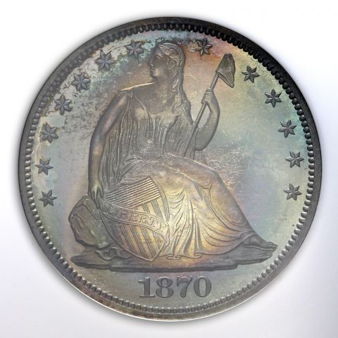 1870 50c Seated Liberty Half Dollar - NGC PF67 (CAC)