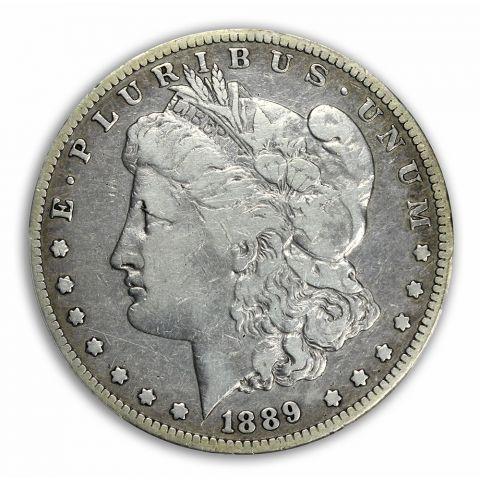 1889-CC $1 Morgan Dollar PCGS F12