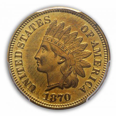 1870 1C Indian Cent - Type 3 Bronze PCGS PR66CAM (CAC)