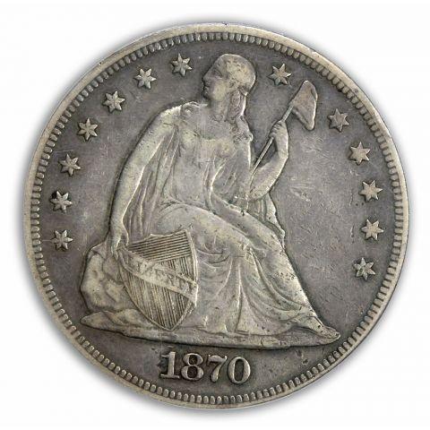 1870-CC $1 Liberty Seated Dollar PCGS XF40