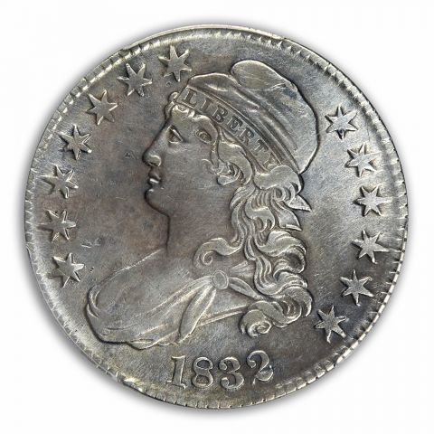 1832 50C Small Letters Capped Bust Half Dollar PCGS MS92