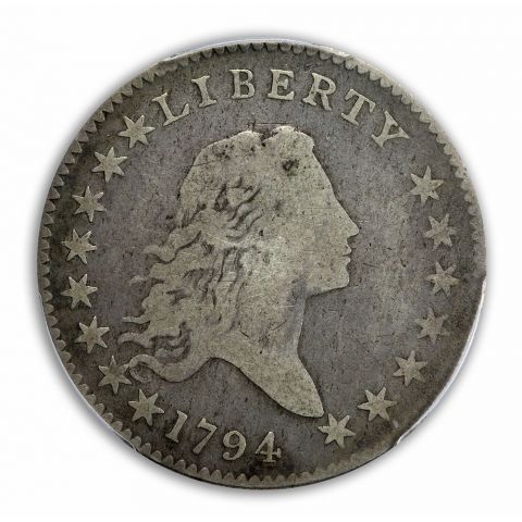 1794 50C Overton 105 Flowing Hair Half Dollar PCGS G6