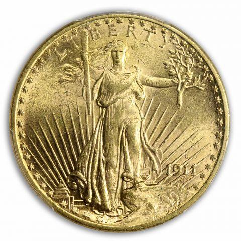 1911-S $20 Saint Gaudens PCGS MS63
