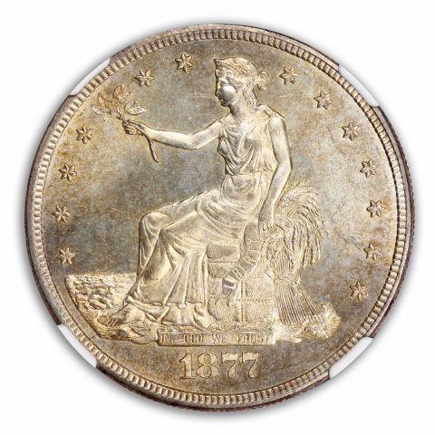 1877-S Trade Dollar T$1 NGC MS65