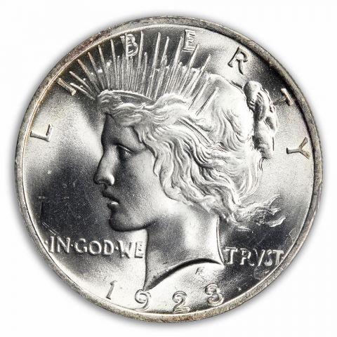 1923 $1 Peace Dollar PCGS MS66+ (CAC)