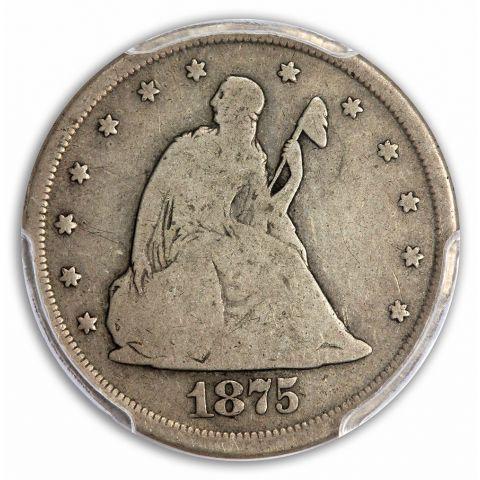 1875-CC 20C Twenty Cent PCGS VG8