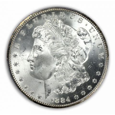 1884-CC $1 Morgan Dollar PCGS MS65